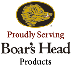 Proudly Serving Boar's Head Products
